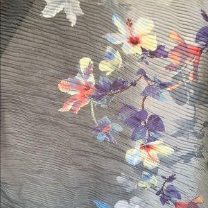 Cejon Accessories - Cejon Floral Orchid Bloom Ombré Chiffon Scarf Wrap